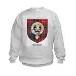 Stewart Clan Crest Tartan Kids Sweatshirt