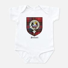 Stewart Clan Crest Tartan Infant Creeper