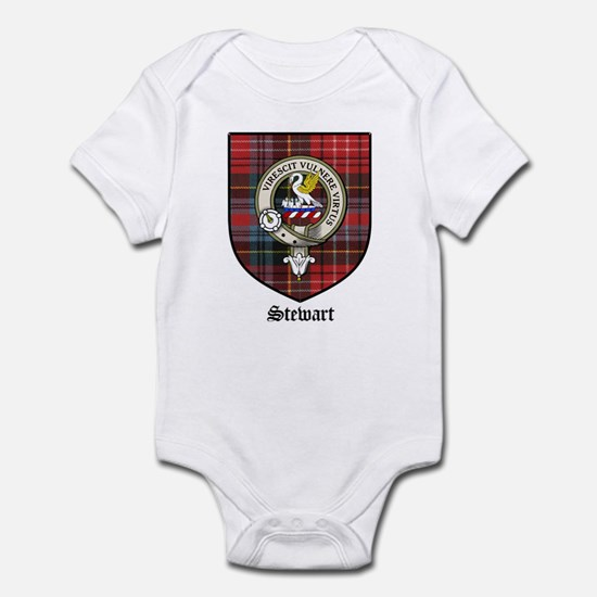 Stewart Clan Crest Tartan Infant Creeper