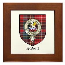 Stewart Clan Crest Tartan Framed Tile