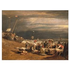 A Fishmarket on the Beach, c.1802-04 (oil on canva Poster
