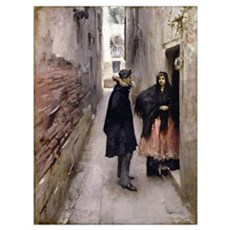 A Street in Venice, c.1880-82 (oil on canvas) Poster