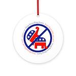 Stop Breeding Hate Ornament (Round)