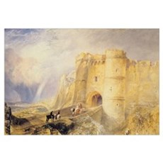 Carisbrook Castle, Isle of Wight (w/c on paper) Poster
