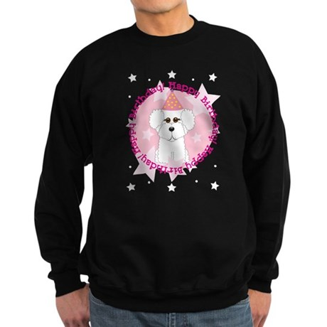 Happy Birthday Bichon Frise Sweatshirt (dark)