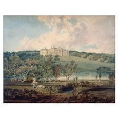 Harewood House from the South (w/c on paper) Poster