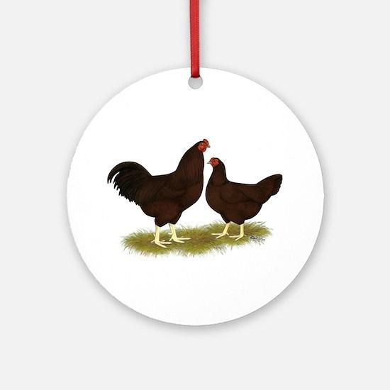Buckeye Chickens Ornament (Round)