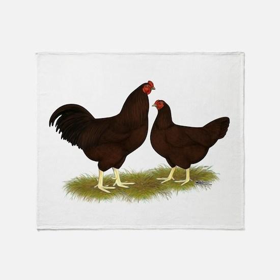 Buckeye Chickens Throw Blanket