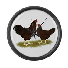 Buckeye Chickens Large Wall Clock