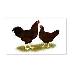 Buckeye Chickens 22x14 Wall Peel