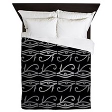 Eye of Ra Monochrome Queen Duvet