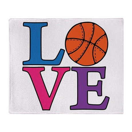 Basketball LOVE Throw Blanket