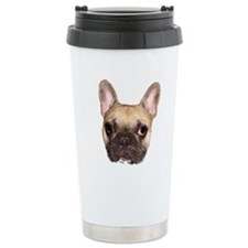 Fawn Black Mask French Bulldog Travel Mug