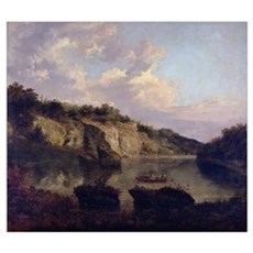 Plumpton Rocks from the Lake Head (oil on canvas) Poster