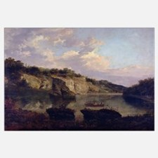 Plumpton Rocks from the Lake Head (oil on canvas)