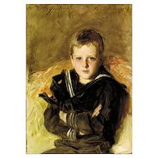 Portrait of Caspar Goodrich (oil on canvas) Poster