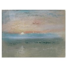 Sunset, c.1830 (w/c and gouache on grey paper) Poster