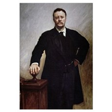 Theodore Roosevelt (colour litho) Poster