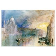 Venice: Grand Canal with Santa Maria della Salute Poster