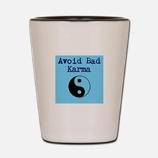 Avoid Bad Karma Yin Yang Shot Glass