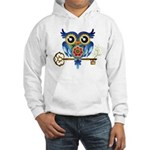 Owl on Skeleton Key Hooded Sweatshirt