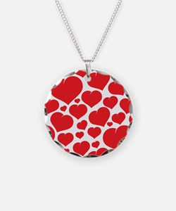 Heart Valentines Day Patterns Necklace