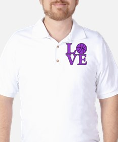 Basketball LOVE Golf Shirt