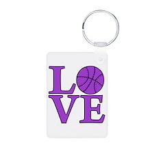 Basketball LOVE Aluminum Keychain (2-sided)