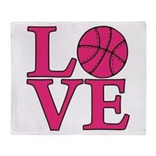 Basketball LOVE Throw Blanket