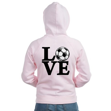 Soccer LOVE Women's Zip Hoodie (front and back)