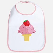 Strawberry Ice Cream Cone Bib