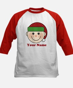 Personalized Christmas Elf Kids Baseball Jersey