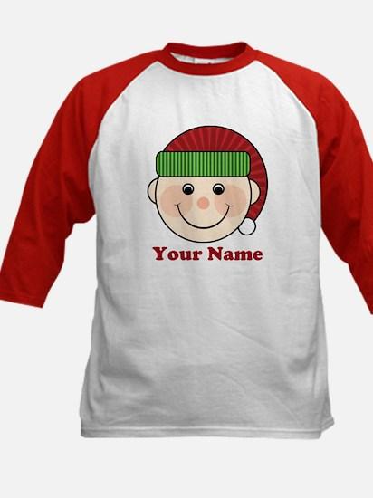 Personalized Christmas Elf Kids Baseball Jersey
