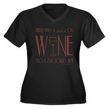 SALE!!! Women's Plus Size V-Neck Dark T-Shirt