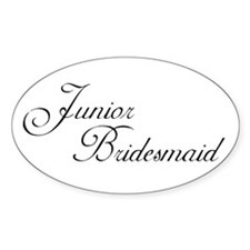 Jr. Bridesmaid's Oval Decal
