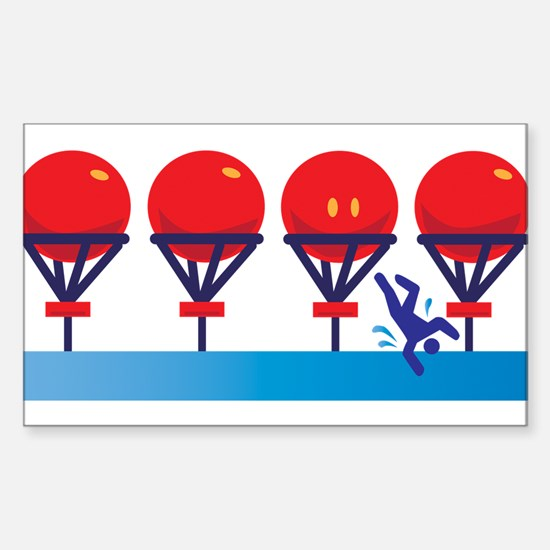 Wipe Out Big Balls Sticker (Rectangle)