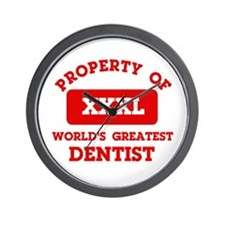 Property of Dentist Wall Clock