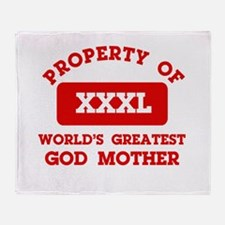 Property of God Mother Throw Blanket