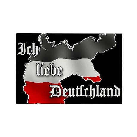 ich liebe deutschland rectangle magnet by patriot apparel. Black Bedroom Furniture Sets. Home Design Ideas