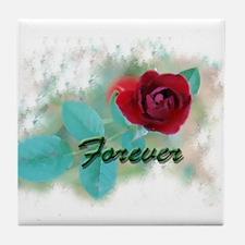 Forever Rose Tile Coaster