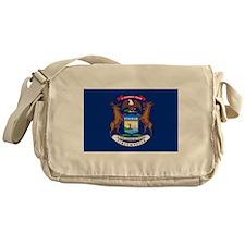 Michigan State Flag Messenger Bag