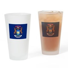 Michigan State Flag Drinking Glass