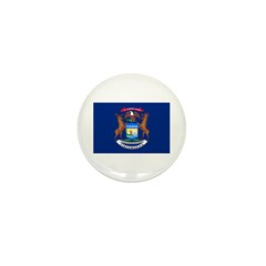 Michigan State Flag Mini Button (100 pack)