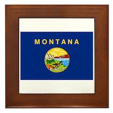 Montana State Flag Framed Tile