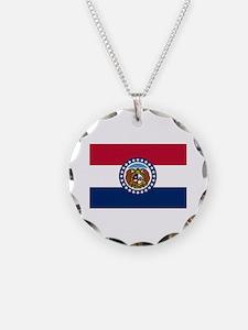 Missouri State Flag Necklace