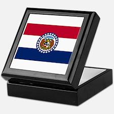 Missouri State Flag Keepsake Box