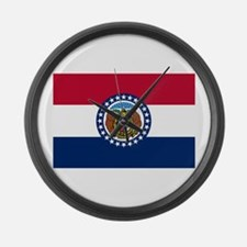 Missouri State Flag Large Wall Clock