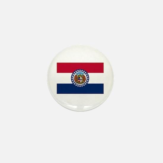 Missouri State Flag Mini Button