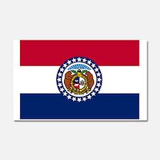 Missouri State Flag Car Magnet 20 x 12