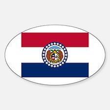 Missouri State Flag Sticker (Oval)